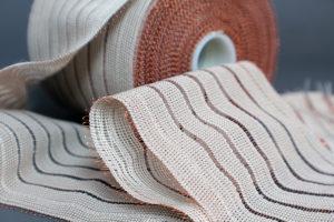 Cinta Crochet con trama de cobre