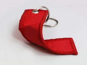 Textile keychain